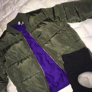 Jackets & Blazers - Olive Bomber Jacket